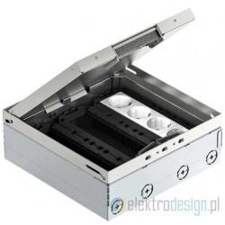 Floorbox z nierdzewki na 12 gniazd
