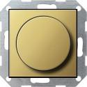 Potencjometr elektroniczny (wł. przycisk.) f. impulsowa mosiądz System 55 GIRA