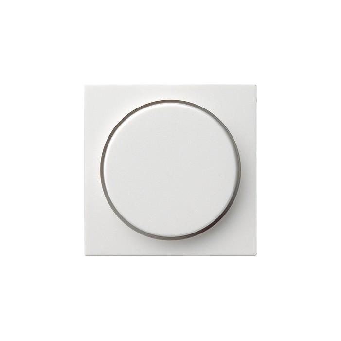 Potencjometr elektroniczny (wł. przycisk.) f. przełączająca biały matowy System 55 GIRA