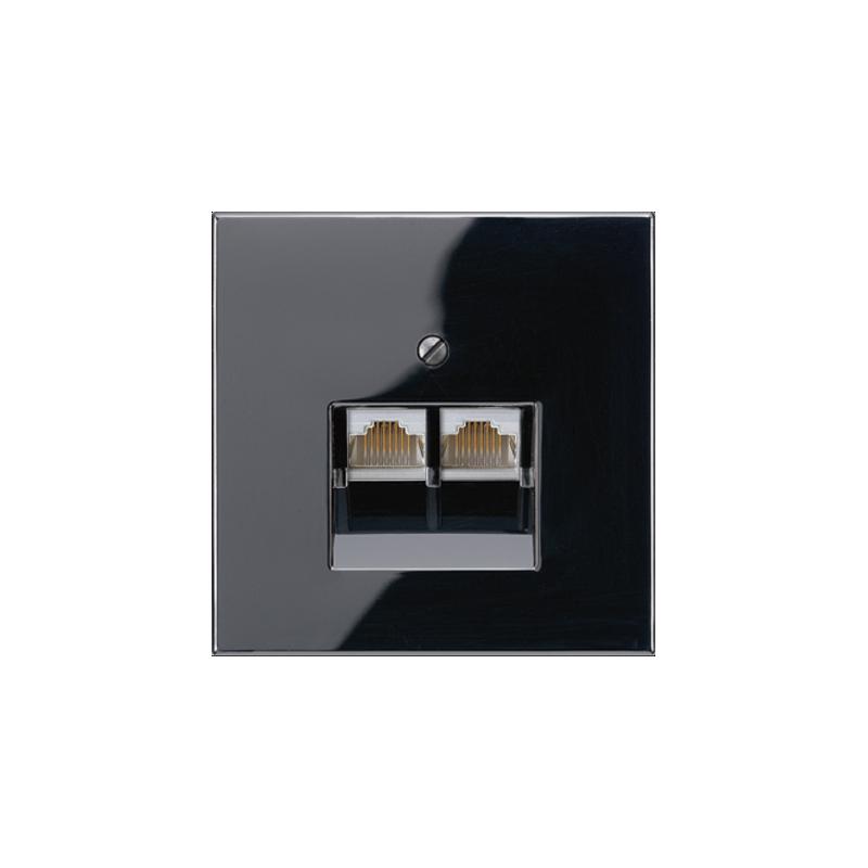 jung ls 990 gniazdo internetowe podw jne czarne. Black Bedroom Furniture Sets. Home Design Ideas