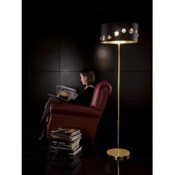 Lampa podłogowa, złoto 24k, EFFUSIONIDILUCE Scrim Black