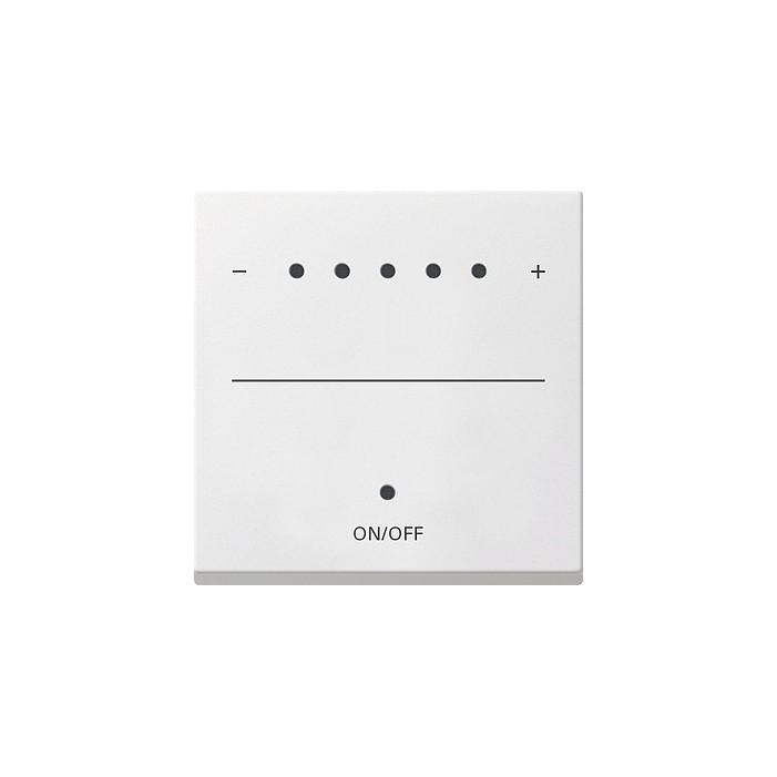 Ściemniacz uniwersalny LED 50-420W/VA (wł. przycisk.) s.2000 biały matowy System 55 GIRA