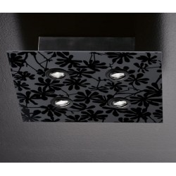 Lampa sufitowa (czarna lub biała) EFFUSIONIDILUCE Tendy Flowers