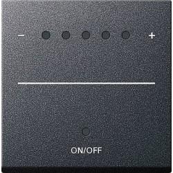 Ściemniacz uniwersalny LED 50-420W/VA (wł. przycisk.) s.2000 antracytowy System 55 GIRA