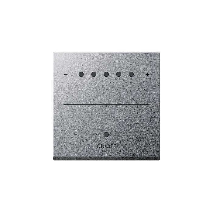 Ściemniacz uniwersalny LED 50-420W/VA (wł. przycisk.) s.2000 alu System 55 GIRA