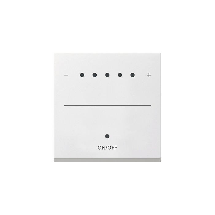 Sterownik 1-10V LED (wł. przycisk.) s.2000 biały matowy System 55 GIRA