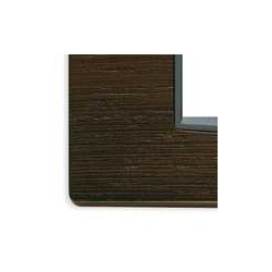 Ramka ozdobna, Classic, drewno, 2M-centr, afrykańska wenge, Vimar EIKON