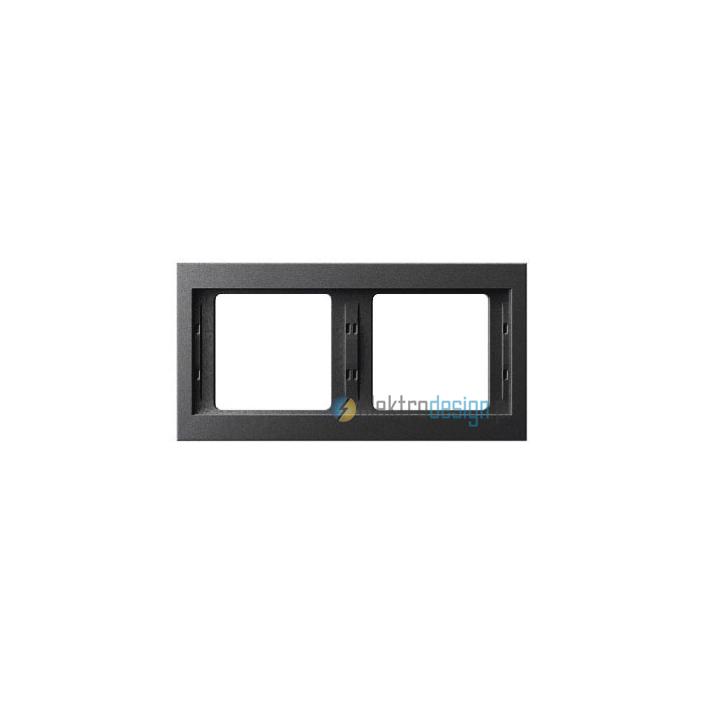 Ramka 2-krotna pozioma. antracyt mat. lakierowany. K.1 Berker