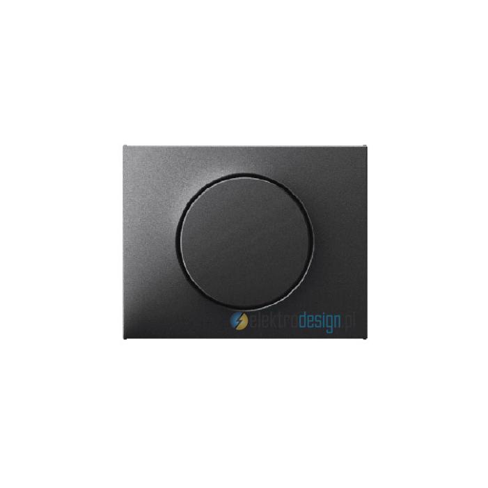 Ściemniacz obrotowy z płynną regulacją 100-1000W. antracyt mat. lakierowany. K.1 Berker