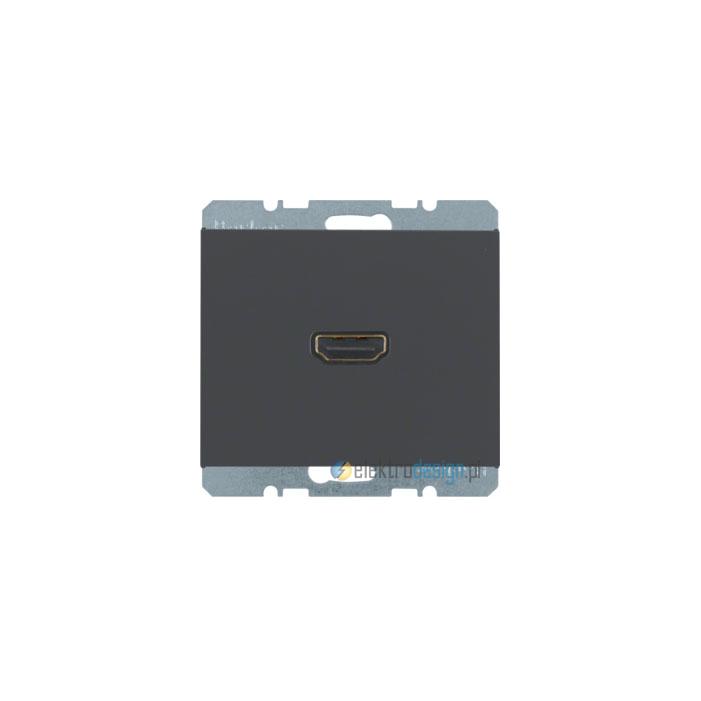 Gniazdo HDMI. antracyt. mat. K.1 Berker