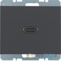 Gniazdo HDMI z przyłączem 90° antracyt Berker K.1