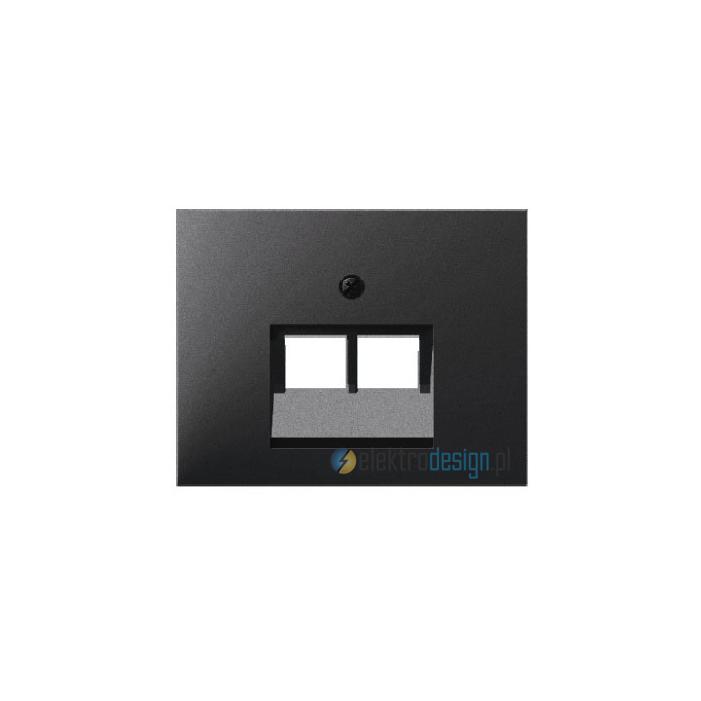 Gniazdo UAE telefoniczne 8 pin. antracyt mat. lakierowany. K.1 Berker