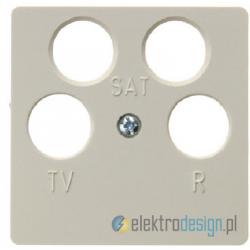Gniazdo RTV/SAT 4-wyjściowe nieprzelotowe. kremowy. System płytek centralnych Berker