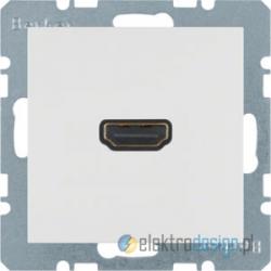 Gniazdo HDMI śnieżnobiały Berker B.3/B.7