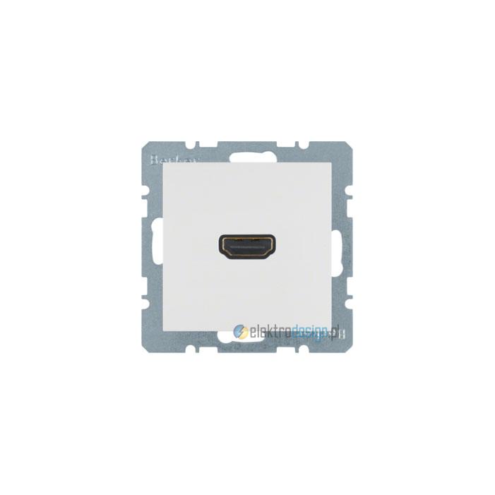 Gniazdo HDMI. śnieżnobiały. połysk. S.1/B.3/B.7 Glas Berker