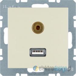 Gniazdo USB / 3.5 mm Audio kremowy Berker B.3/B.7