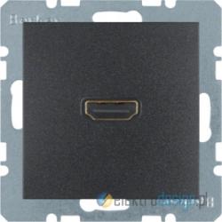 Gniazdo HDMI antracyt Berker B.3/B.7