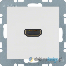 Gniazdo HDMI śnieżnobiały mat Berker B.3/B.7