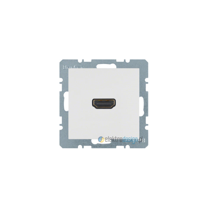 Gniazdo HDMI. śnieżnobiały. mat. S.1/B.1/B.3/B.7 Glas Berker