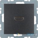 Gniazdo HDMI z przyłączem 90° antracyt Berker B.3/B.7