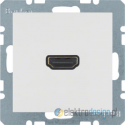 Gniazdo HDMI z przyłączem 90° śnieżnobiały połysk Berker B.3/B.7