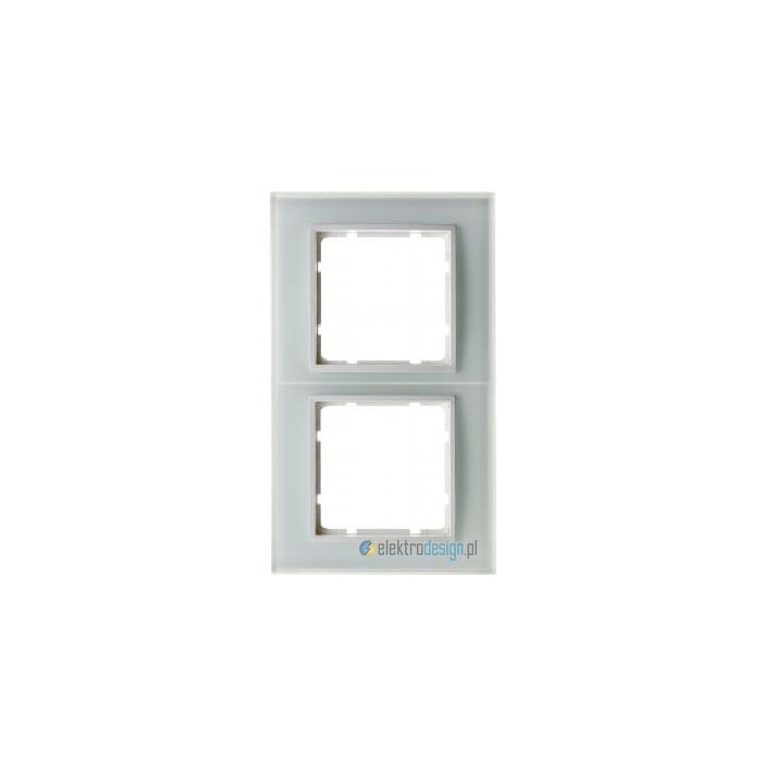 Ramka szklana 2-krotna. śnieżnobiały. B.7 Glas Berker