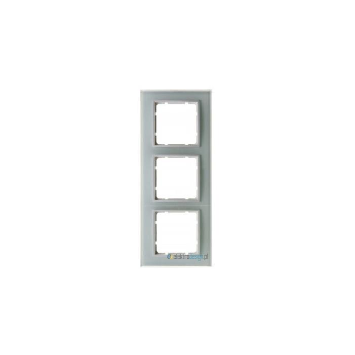 Ramka szklana 3-krotna. śnieżnobiały. B.7 Glas Berker