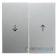 Łącznik żaluzjowy przyciskowy. alu. B.1/B.7 Glas Berker