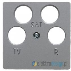 Gniazdo antenowe RTV/SAT 4-wyjściowe nieprzelotowe. alu. B.1/B.7 Glas Berker