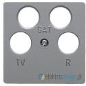Gniazdo antenowe RTV 2xSAT nieprzelotowe alu Berker B.3/B.7