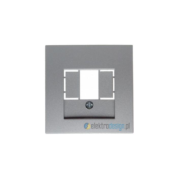 Gniazdo głośnikowe podwójne. alu. B.1/B.7 Glas Berker