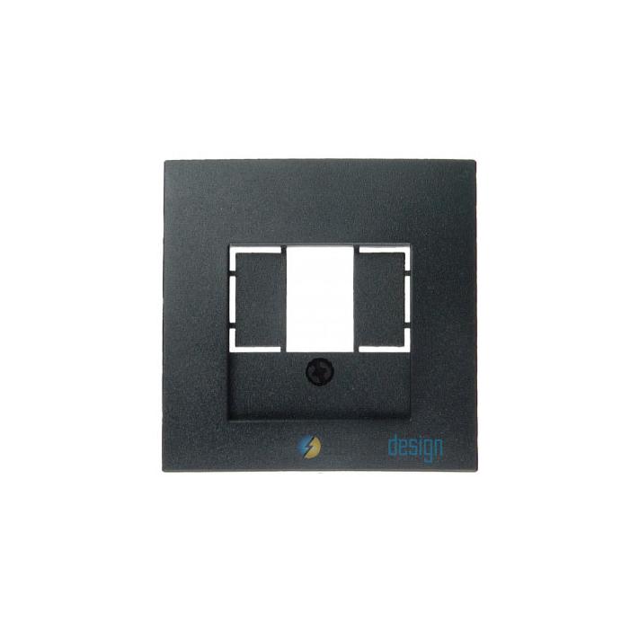 Gniazdo głośnikowe pojedyncze. antracyt. B.1/B.3/B.7 Glas Berker