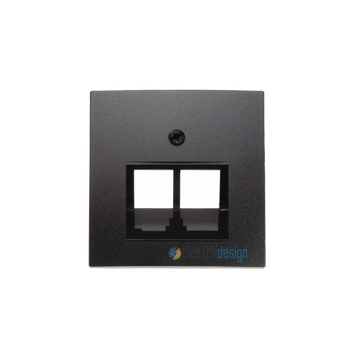 Gniazdo telefoniczne. antracyt. B.1/B.3/B.7 Glas Berker