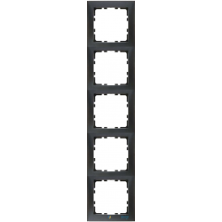 Ramka 5-krotna antracyt Berker B.Kwadrat