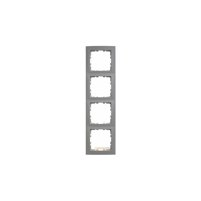 Ramka 4-krotna alu Berker B.Kwadrat