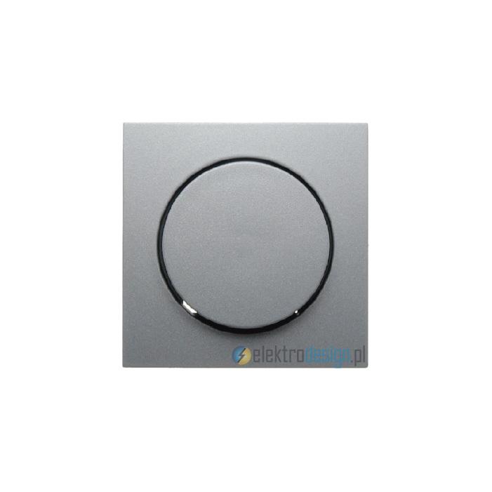 Elektroniczny potencjometr obrotowy 1-10V. alu. B.Kwadrat Berker