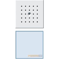 Bramofon podtynkowy pojedyncza biały Gira Wideodomofony