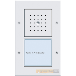 Bramofon natynkowy pojedynczy System Domofon biały Gira Wideodomofony