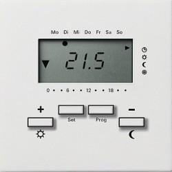 Reg. temp. 230V z zegarem biały Gira F100