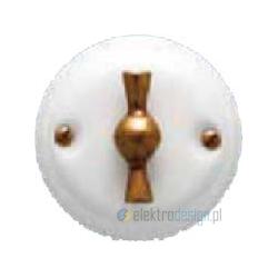 Porcelanowy włącznik obrotowo-pulsacyjny klasyczny, brąz, GiGambarelli