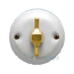 Porcelanowy włącznik obrotowo-pulsacyjny modern, mosiądz, GiGambarelli