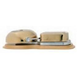 Dzwonek mosiężny z podstawą, frez dąb, GiGambarelli