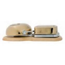 Dzwonek mosiężny z podstawą, dąb, GiGambarelli