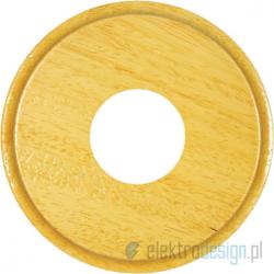 Drewniana podstawa okrągła z frezem, dąb, GiGambarelli
