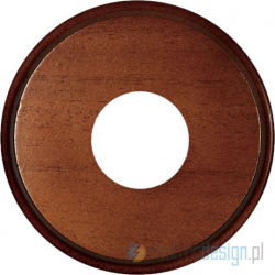 Drewniana podstawa okrągła z frezem, orzech, GiGambarelli