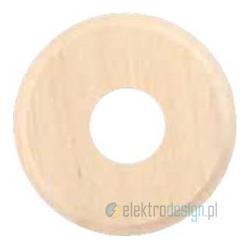 Drewniana podstawa okrągła z frezem, surowy, GiGambarelli