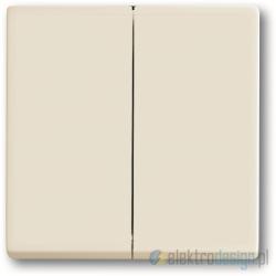 ABB Axcent Włącznik podwójny świecznikowy biały chalet