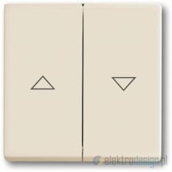 ABB Axcent Włącznik żaluzjowy z blokadą biały chalet