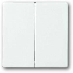 ABB Carat,Solo,Axcent,Future Włącznik podwójny świecznikowy biały studyjny