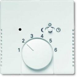 ABB Carat,Solo,Axcent,Future Regulator temperatury z lampką i przeWłącznikiem biały studyjny